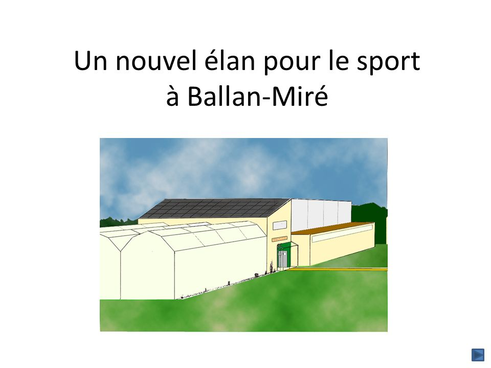 Le constat Ballan-Miré, une population qui augmente et se « rajeunit » alors que linvestissement en terme d équipements sportifs adaptés na pas suivi.
