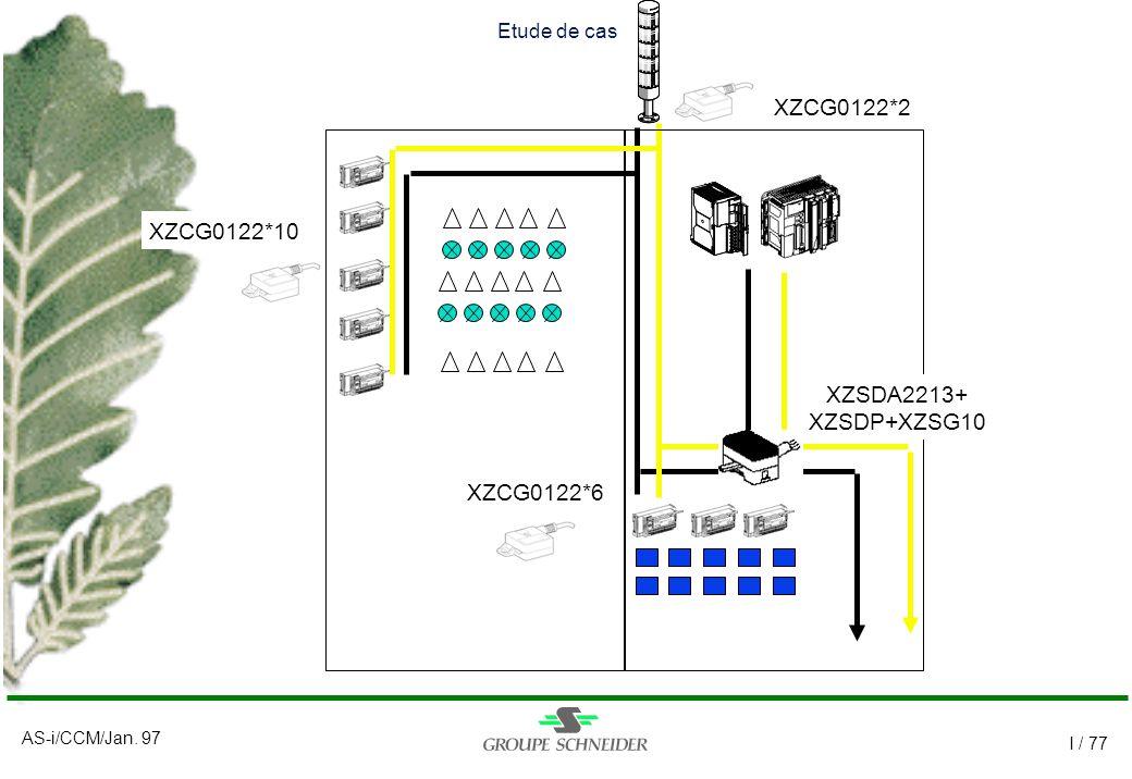 AS-i/CCM/Jan. 97 I / 77 Etude de cas XZCG0122*10 XZCG0122*2 XZCG0122*6 XZSDA2213+ XZSDP+XZSG10