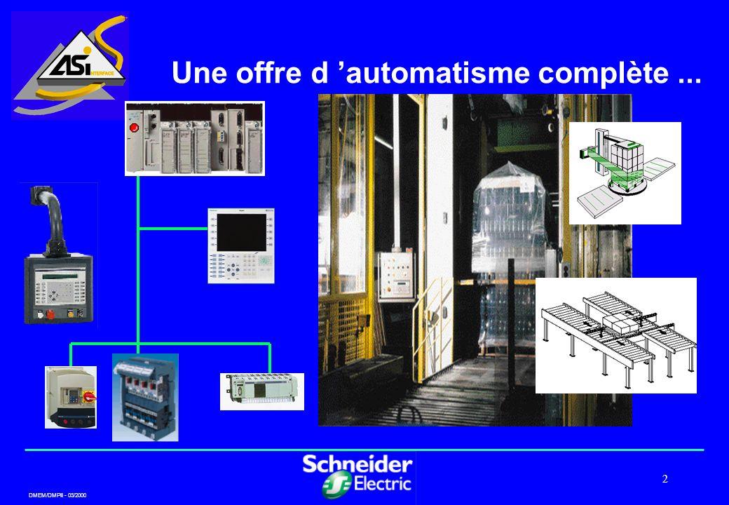 DMEM/DMPII - 03/2000 2 Une offre d automatisme complète...