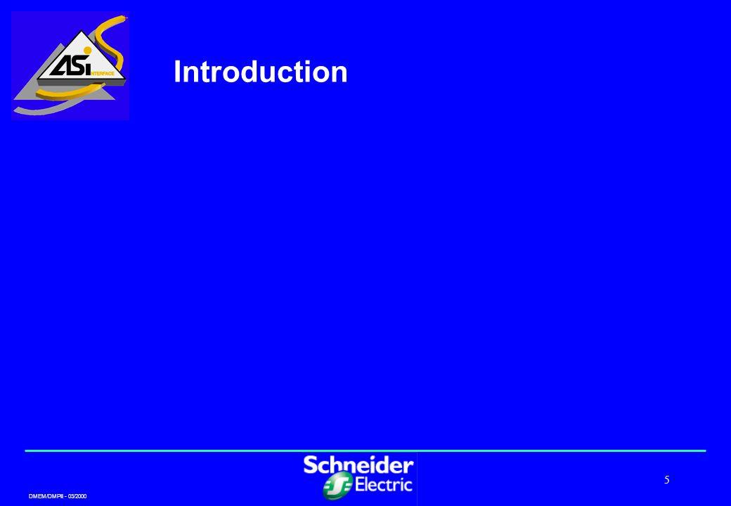 DMEM/DMPII - 03/2000 5 Introduction