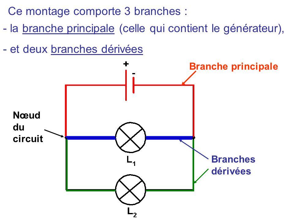 III – Lintensité du courant dans un circuit comportant des dérivations. 1) Rappels Un circuit en dérivation est constitué de plusieurs boucles.