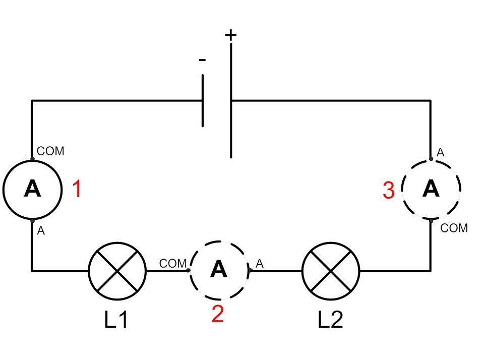 II – Lintensité du courant dans un circuit en série. Expérience 1: On réalise le circuit en série suivant avec 2 lampes différentes et on mesure linte