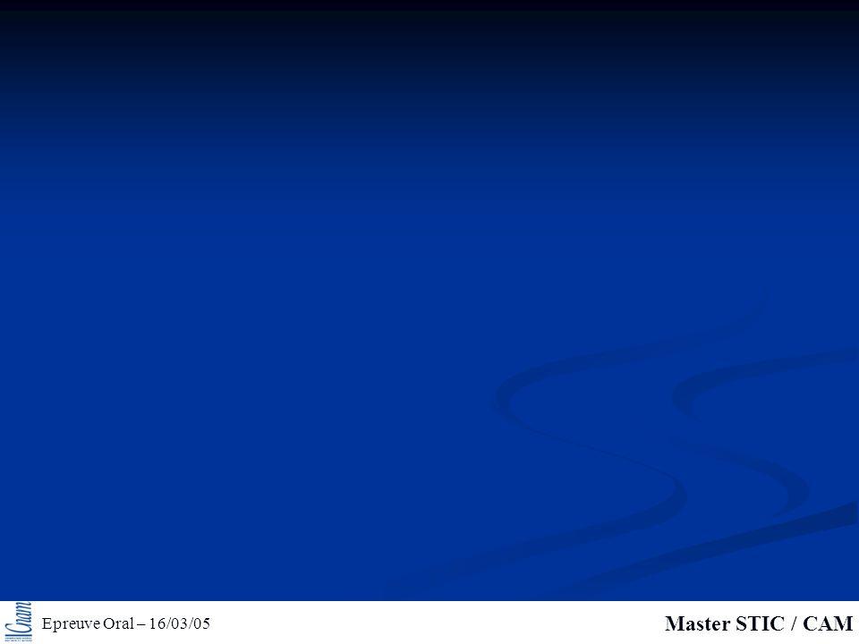 Epreuve Oral – 16/03/05 Master STIC / CAM