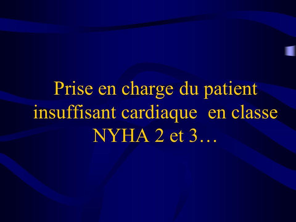 Prise en charge du patient insuffisant cardiaque en classe NYHA 2 et 3…