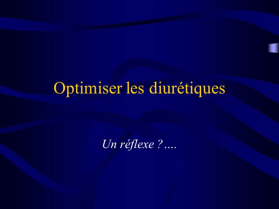 Optimiser les diurétiques Un réflexe ?….
