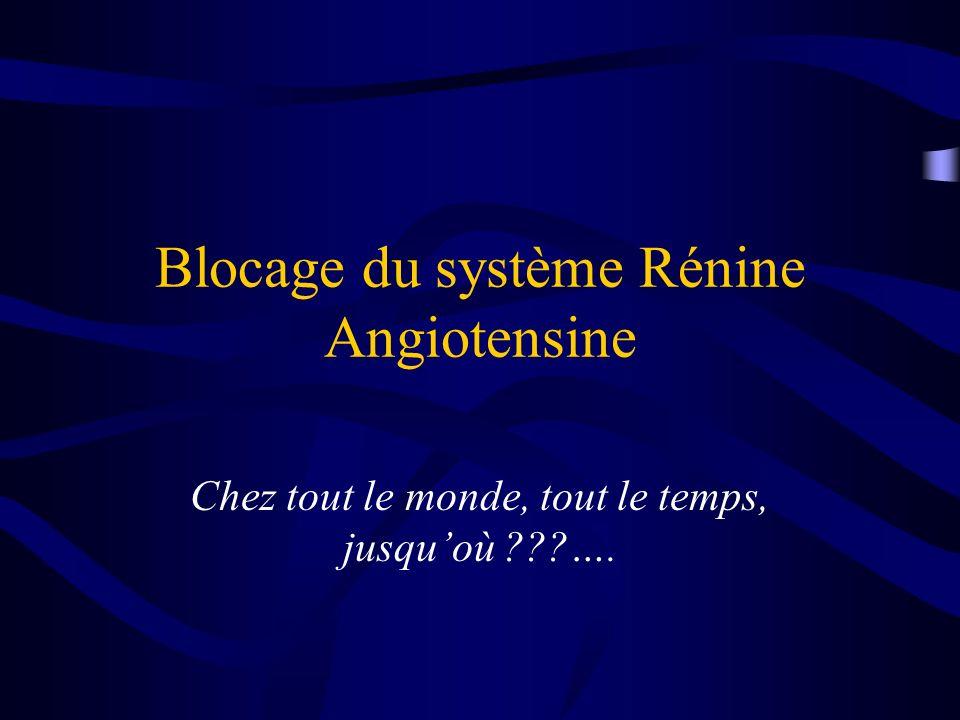 Blocage du système Rénine Angiotensine Chez tout le monde, tout le temps, jusquoù ???….
