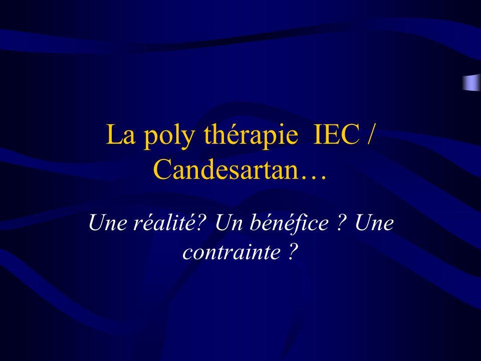La poly thérapie IEC / Candesartan… Une réalité? Un bénéfice ? Une contrainte ?