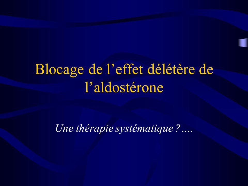 Blocage de leffet délétère de laldostérone Une thérapie systématique ?….