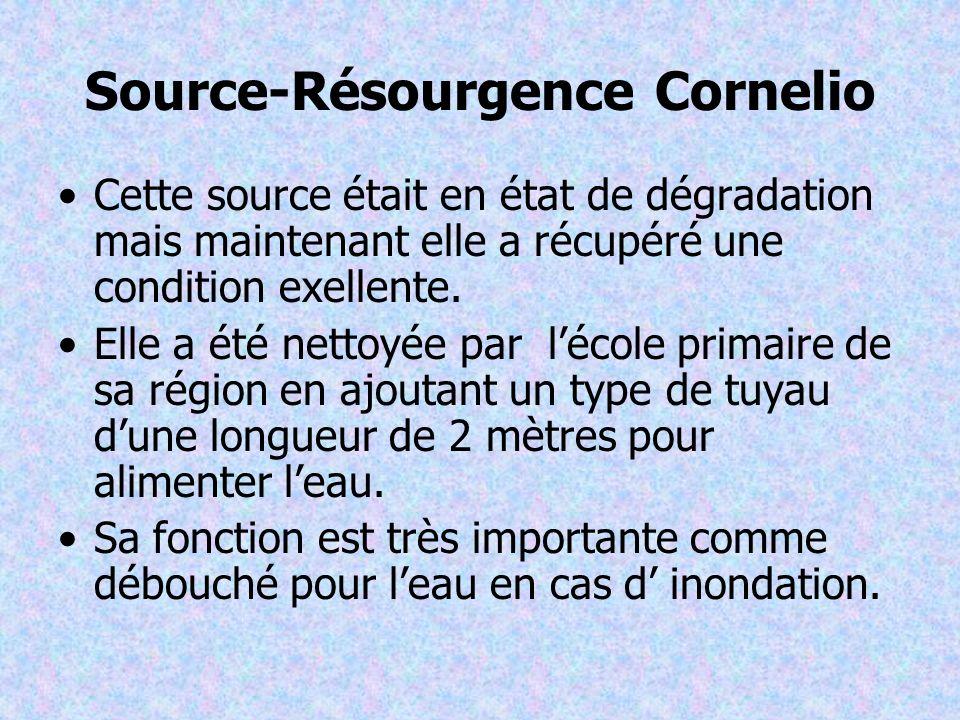 Source-Résourgence Cornelio Cette source était en état de dégradation mais maintenant elle a récupéré une condition exellente.
