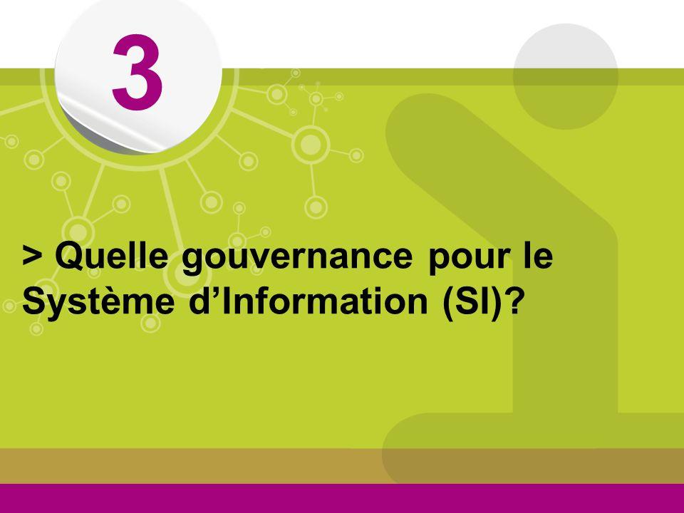 © 3 > Quelle gouvernance pour le Système dInformation (SI)?