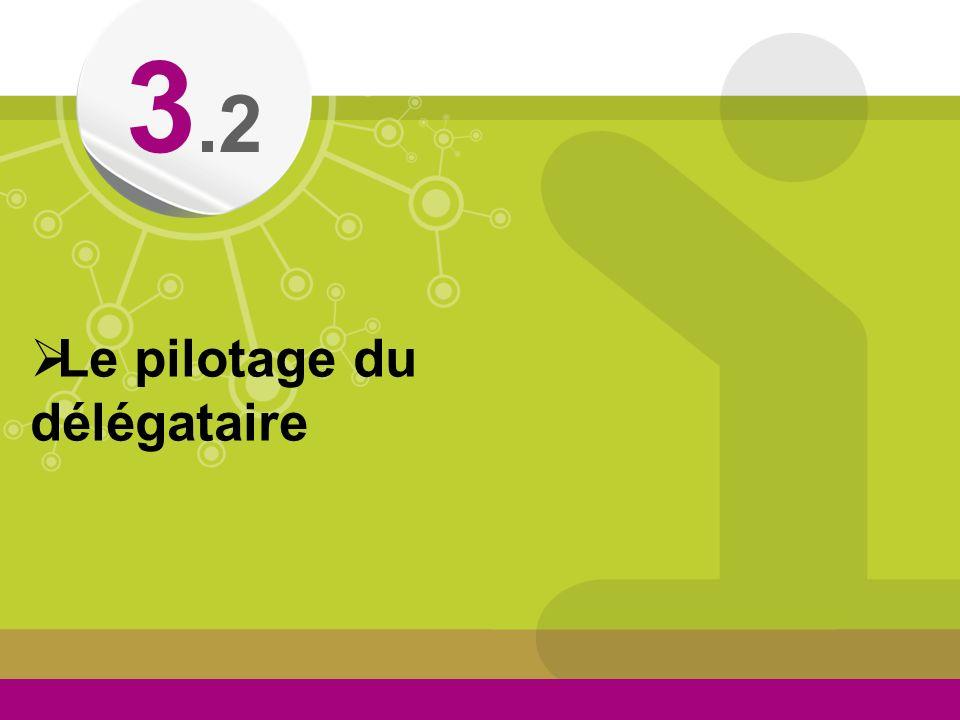 © Le pilotage du délégataire 3.2