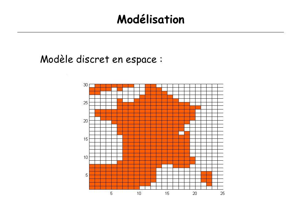 2. Modèle discret MineusesParasitoïdes Reproduction Interaction Émergence - RF Émergence + RN Dispersion Reproduction T1T1 TiTi