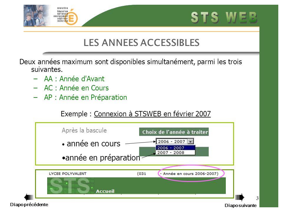 Diapo précédente Diapo suivante 4 Préparation de la prochaine rentrée scolaire Que fait la Bascule de STSWEB.