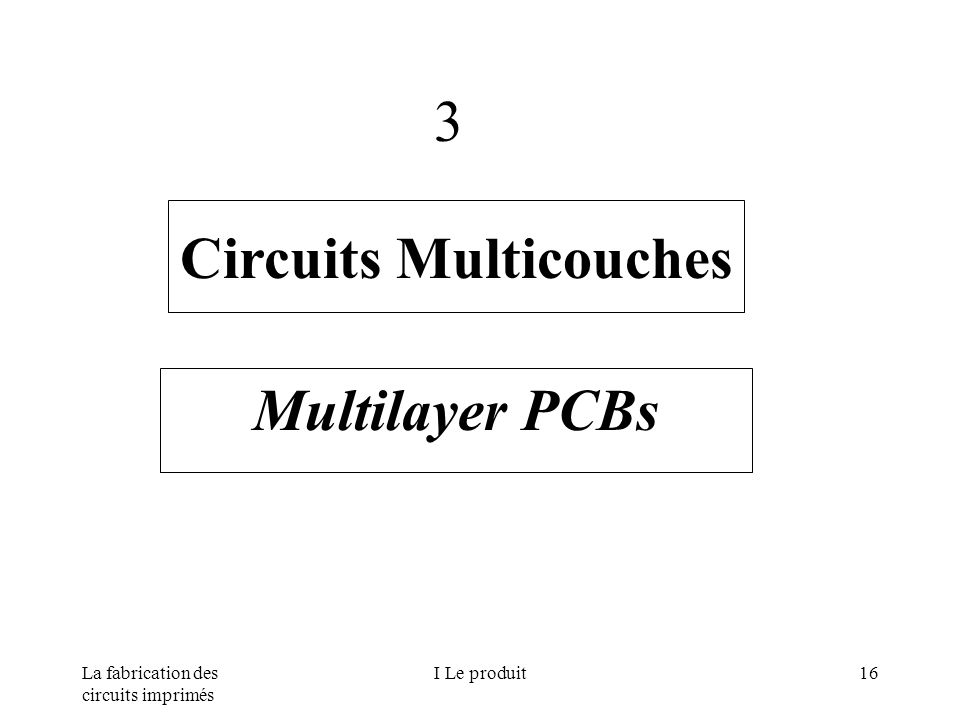 La fabrication des circuits imprimés I Le produit16 Circuits Multicouches Multilayer PCBs 3