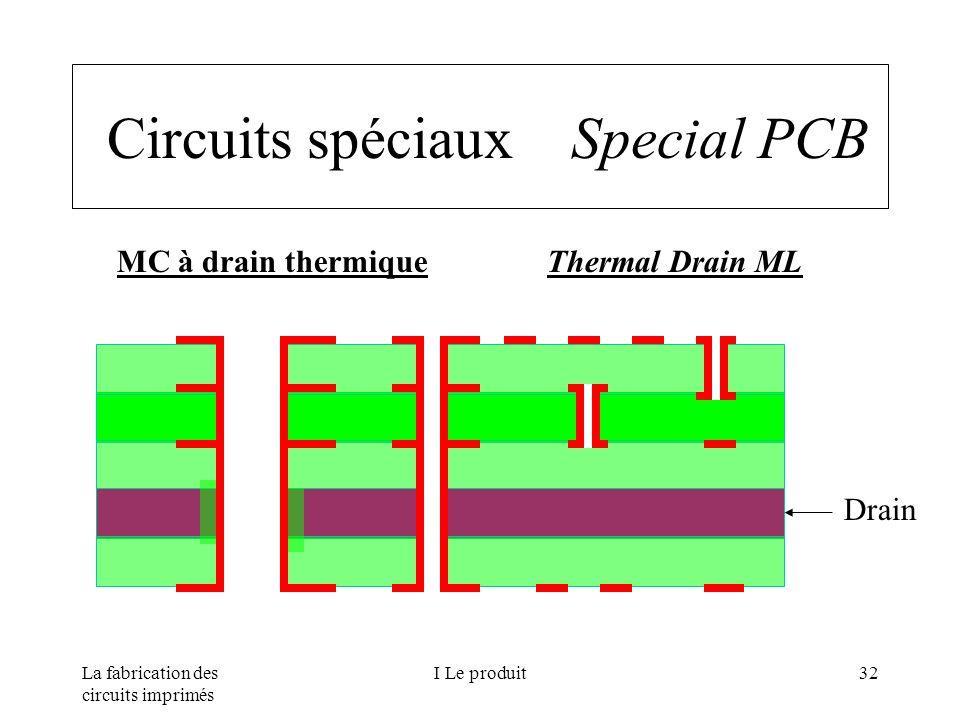La fabrication des circuits imprimés I Le produit32 Circuits spéciaux Special PCB MC à drain thermique Thermal Drain ML Drain
