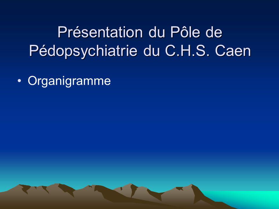 Présentation du Pôle de Pédopsychiatrie du C.H.S. Caen Organigramme