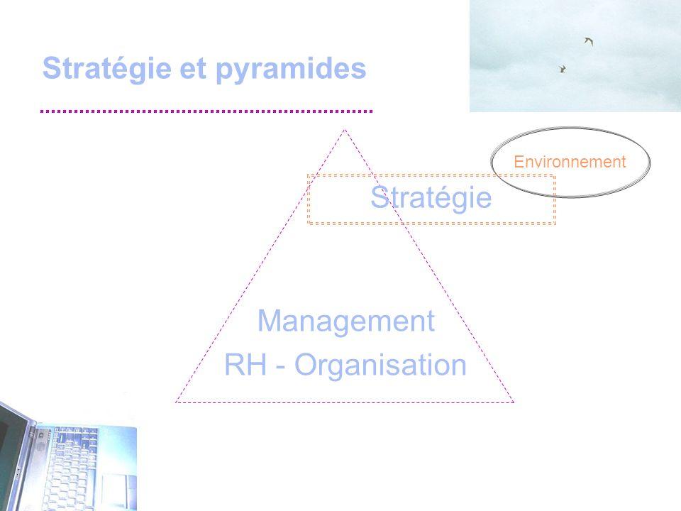 Stratégie et pyramides Management RH - Organisation Stratégie Environnement