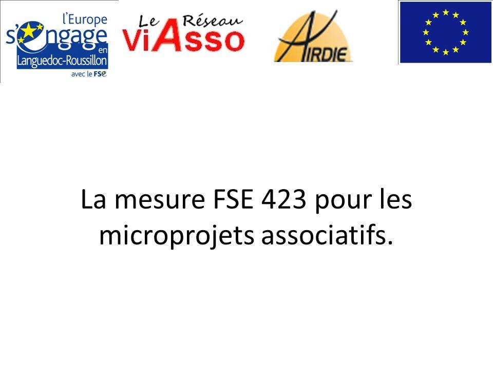 La mesure FSE 423 pour les microprojets associatifs.