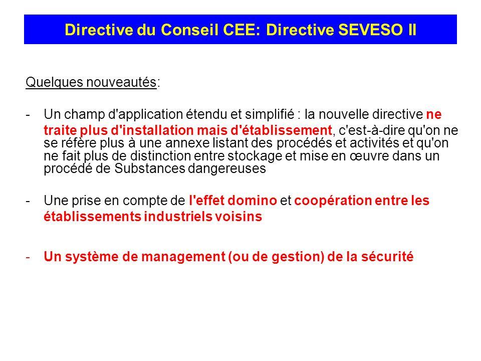 Quelques nouveautés: -Un champ d'application étendu et simplifié : la nouvelle directive ne traite plus d'installation mais d'établissement, c'est-à-d