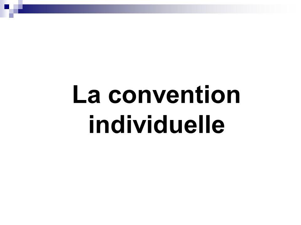 La convention individuelle