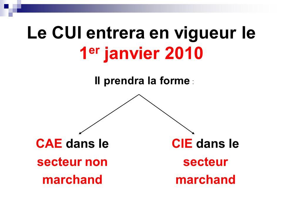 Le CUI : pourquoi .Le CUI simplifie larchitecture des contrats aidés.