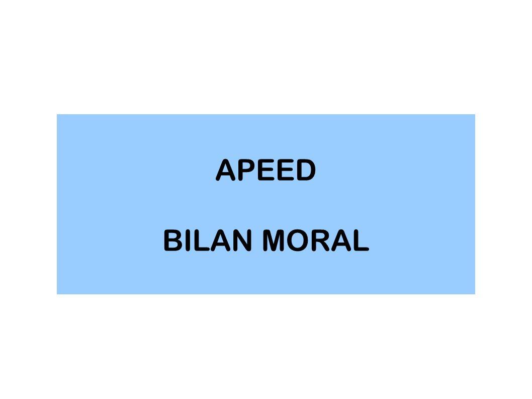 APEED BILAN MORAL