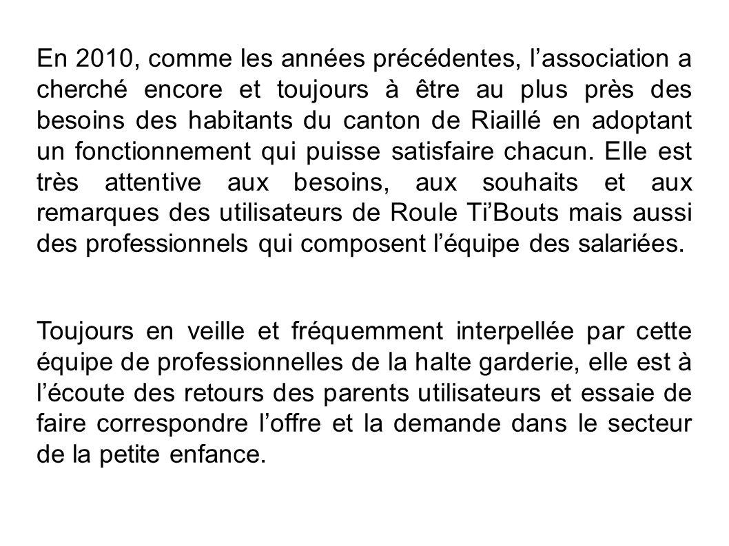 Lassociation a par ailleurs posé sa candidature au Conseil de développement du Pays dAncenis comme représentant reconnu petite enfance.