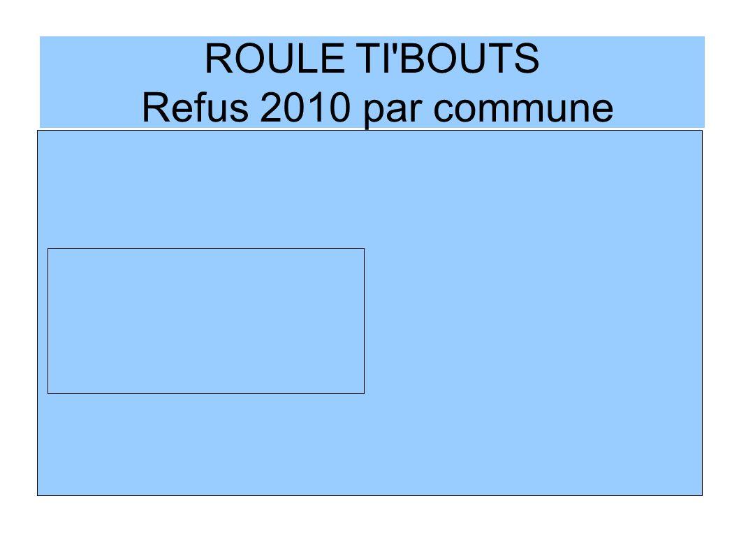ROULE TI'BOUTS Refus 2010 par commune