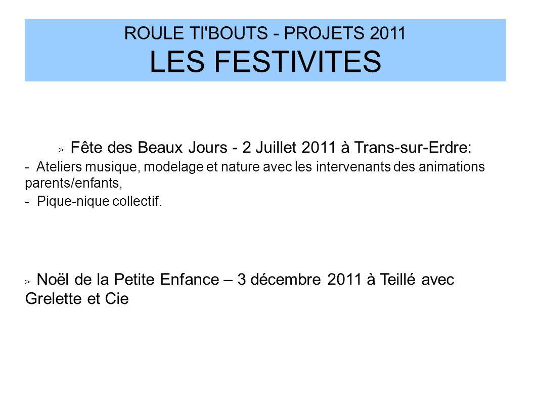 Fête des Beaux Jours - 2 Juillet 2011 à Trans-sur-Erdre: - Ateliers musique, modelage et nature avec les intervenants des animations parents/enfants,