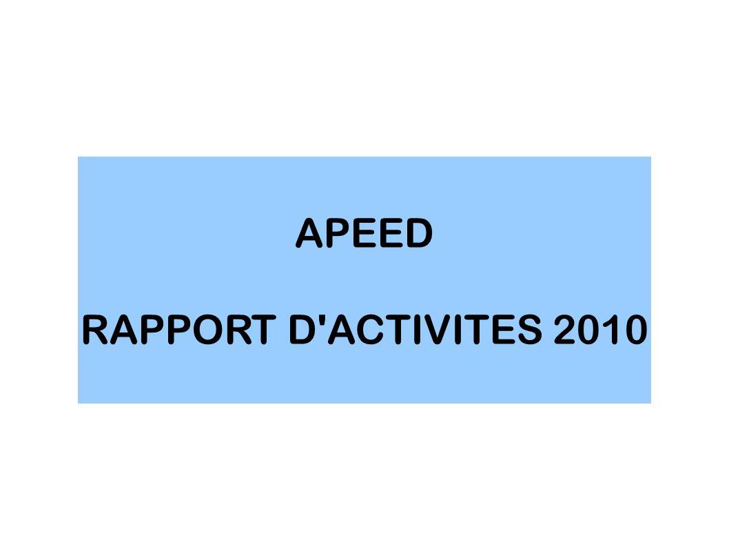 APEED RAPPORT D'ACTIVITES 2010