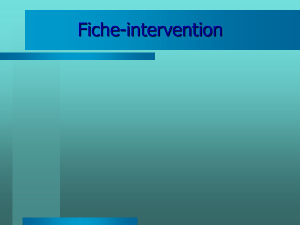 Fiche-intervention