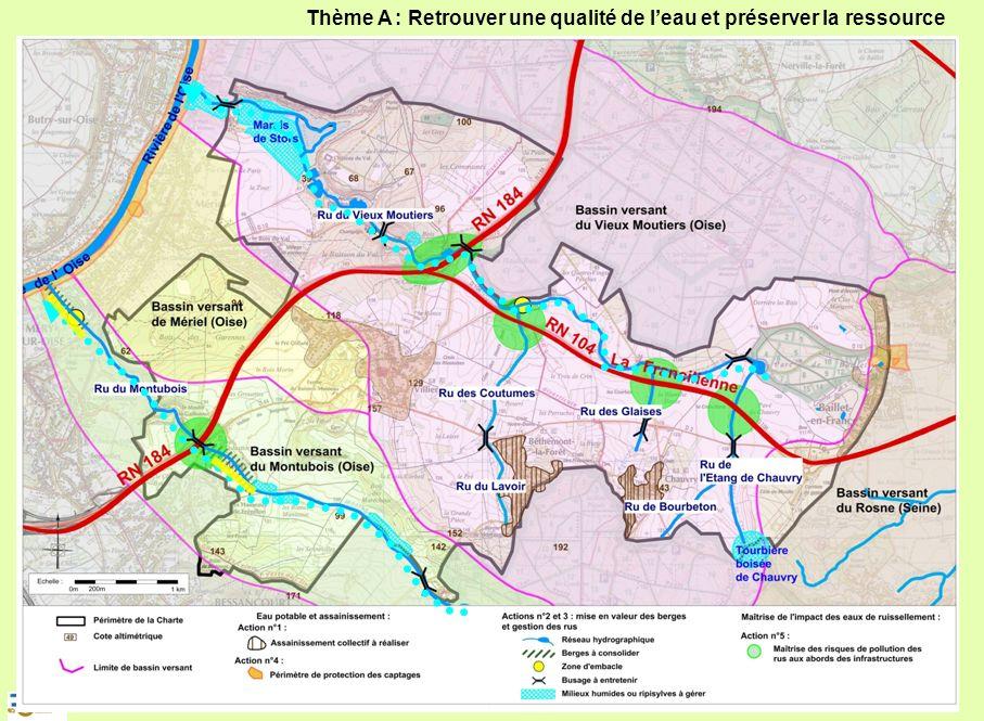 Elaboration et mise en forme d'une charte d'environnement pour la vallée de Chauvry 10 Thème A : Retrouver une qualité de leau et préserver la ressour