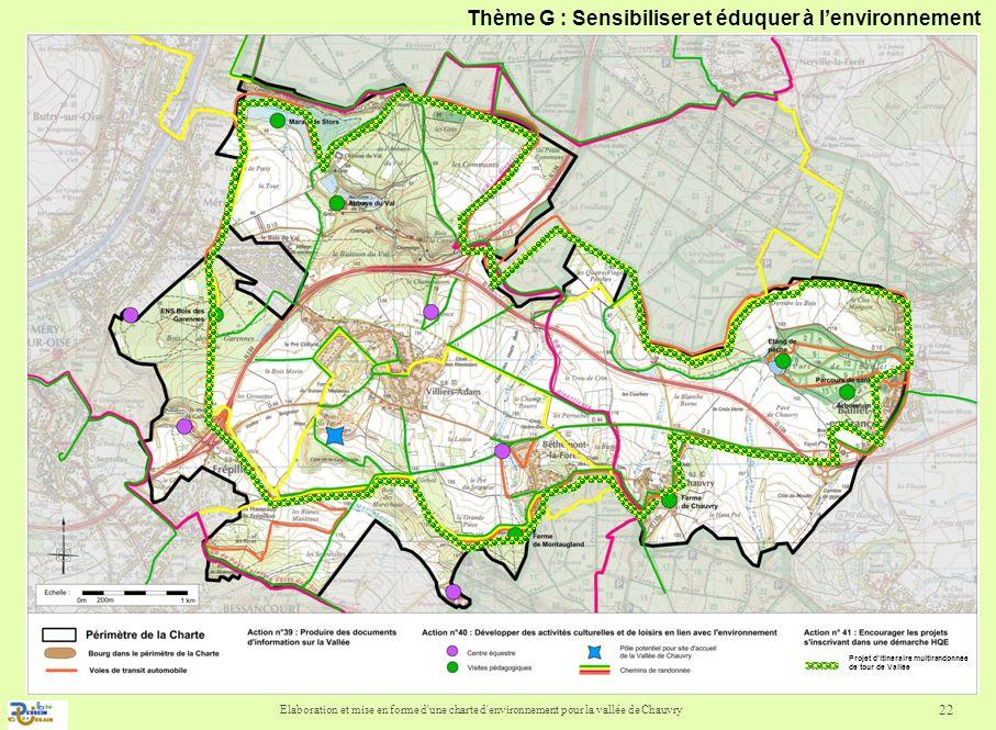 Elaboration et mise en forme d'une charte d'environnement pour la vallée de Chauvry 22 Projet ditinéraire multirandonnée de tour de Vallée Thème G : S