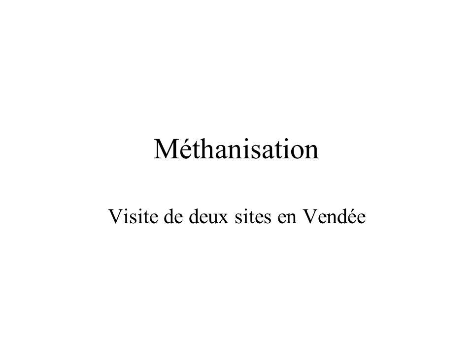 Méthanisation Visite de deux sites en Vendée