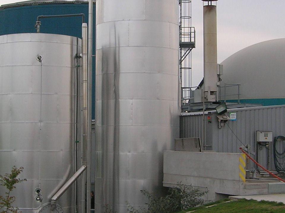 Production: Biogaz: production estimée à 130 000 m3 /an 65 000 m3 de méthane Production délectricité : 200 MW = lalimentation de 70 foyers Puissance thermique:60 KW utilisation de leau chaude pour chauffer 2 maisons + élevage de lapins Digestat à épandre