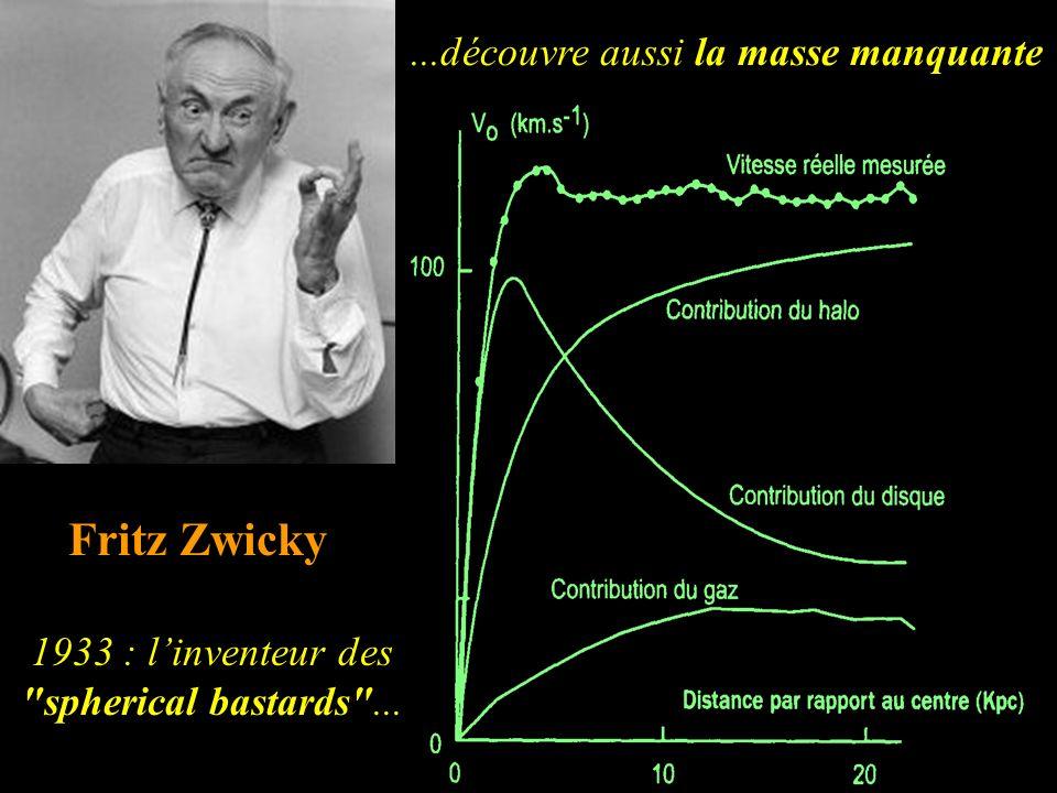 ...découvre aussi la masse manquante Fritz Zwicky 1933 : linventeur des