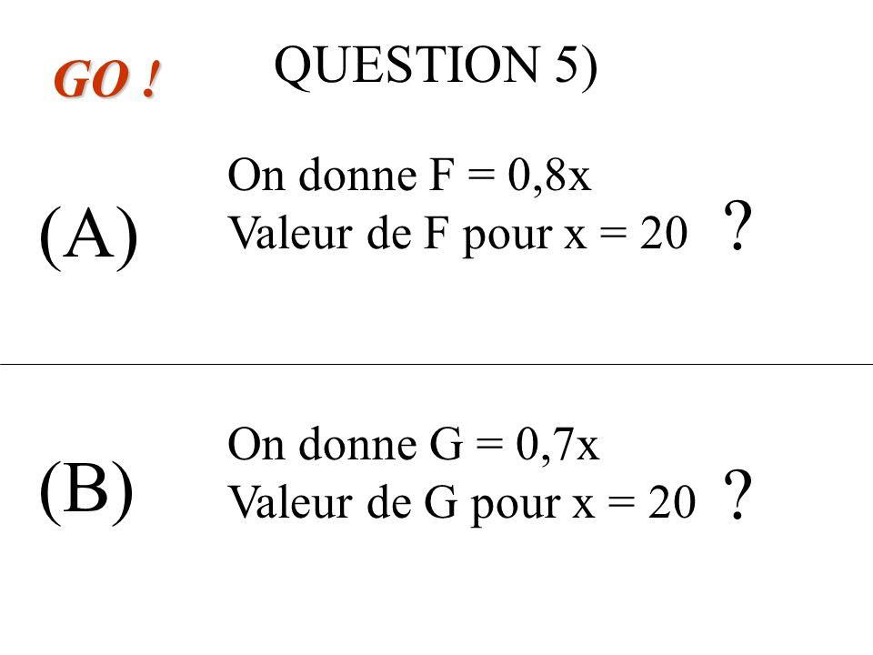 QUESTION 4) (A) (B) GO ! A(0,8) et B(-30) AB = A(-128) et B(-3) AB =
