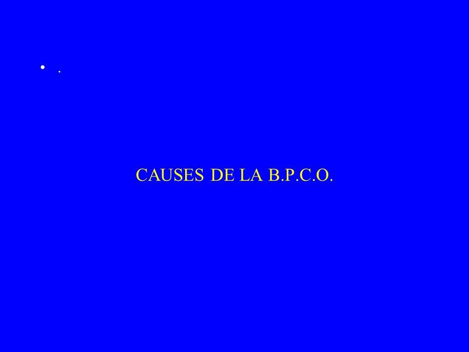 CAUSES DE LA B.P.C.O..