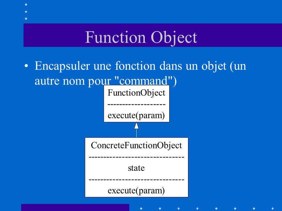 Function Object Encapsuler une fonction dans un objet (un autre nom pour