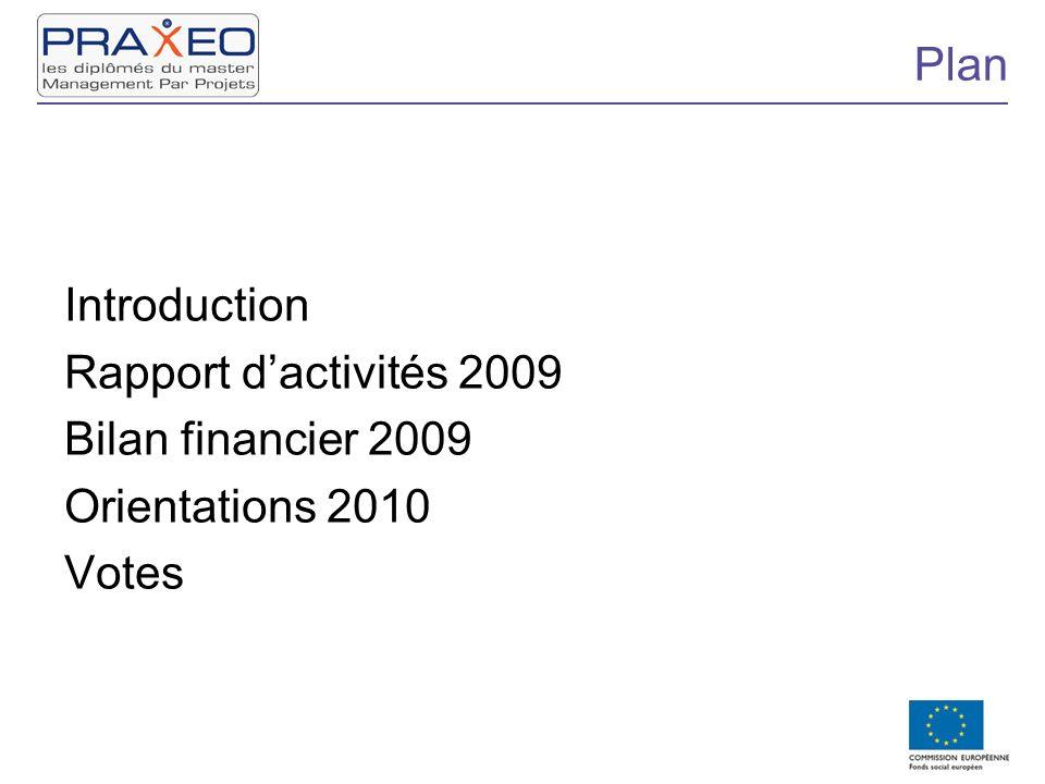 Plan Introduction Rapport dactivités 2009 Bilan financier 2009 Orientations 2010 Votes