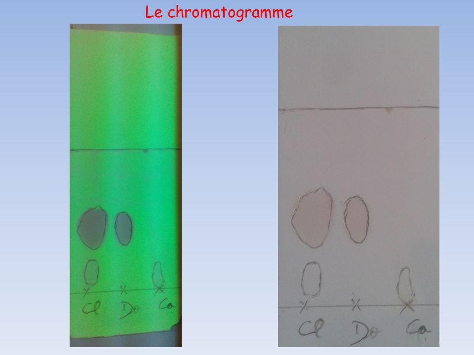 Le chromatogramme