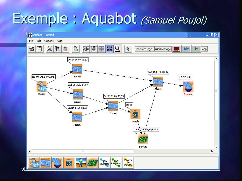 Olivier Barreteau, Nils FerrandSéminaire Modélisation, 03/10/2005 Exemple : Aquabot (Samuel Poujol)