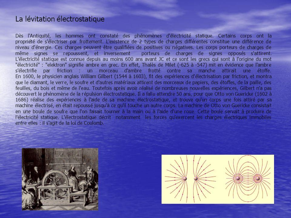 Dès l'Antiquité, les hommes ont constaté des phénomènes d'électricité statique. Certains corps ont la propriété de s'électriser par frottement. L'exis