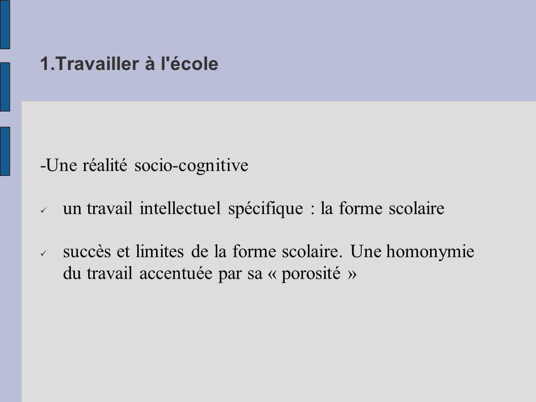 2.Travail et métier d élève Le « métier d élève » (Ph.