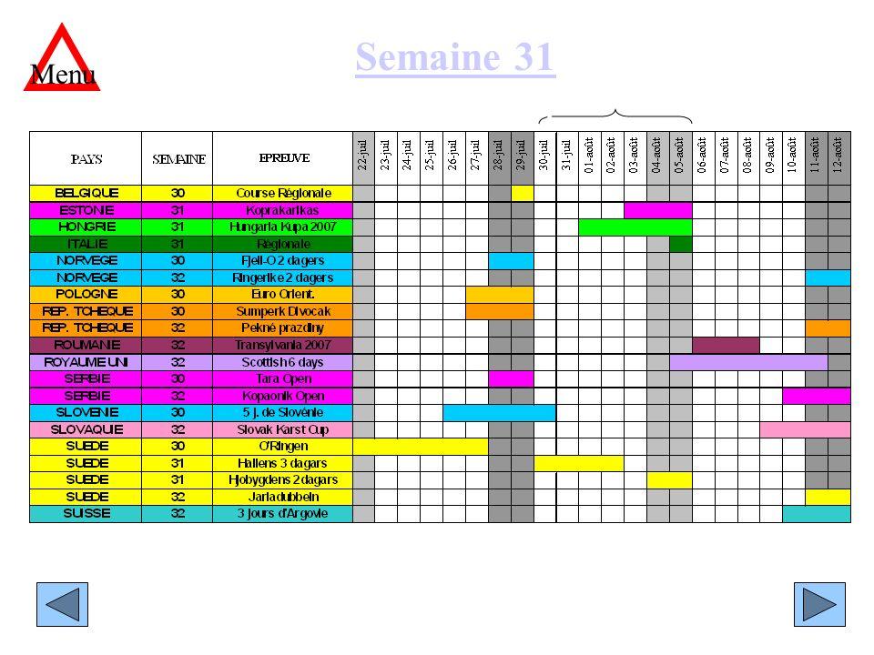 Semaine 31 Menu