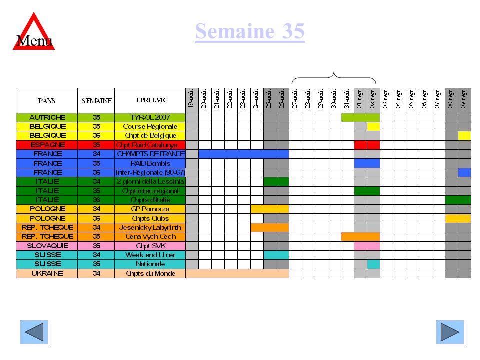 Semaine 35 Menu