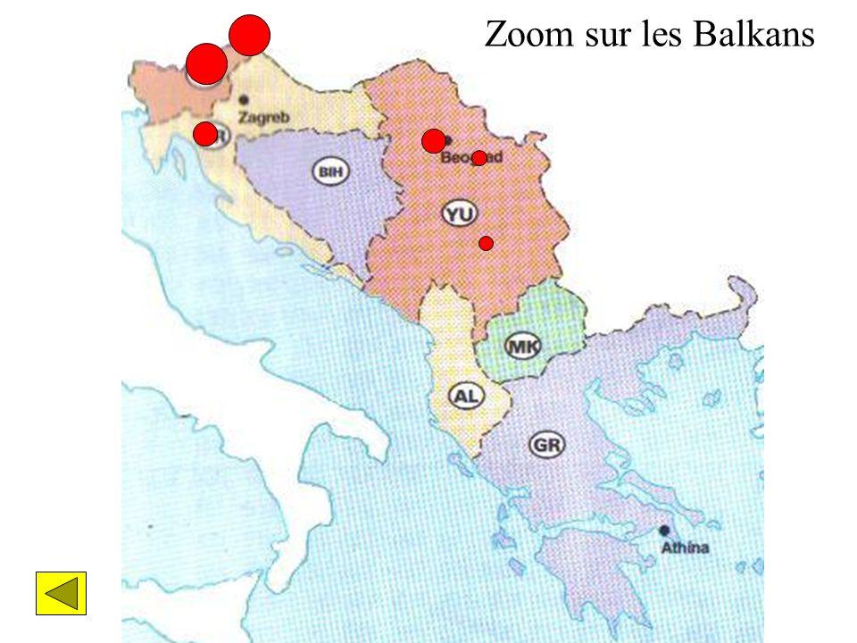 Zoom sur les Balkans