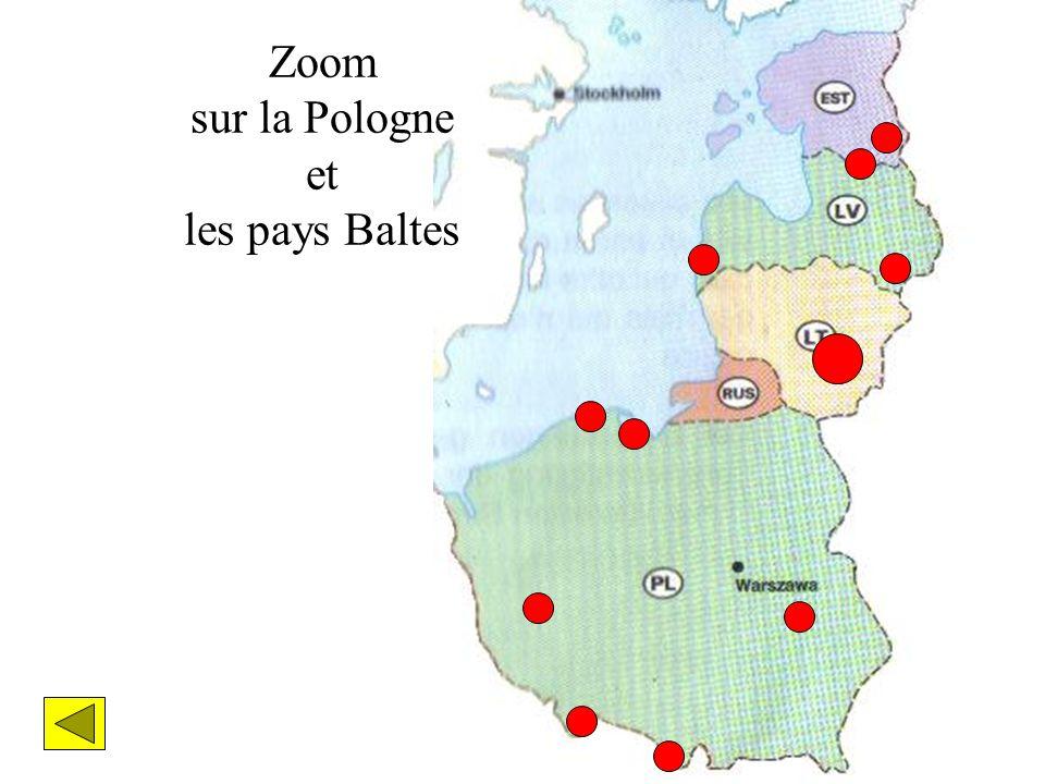 Zoom sur la Pologne et les pays Baltes