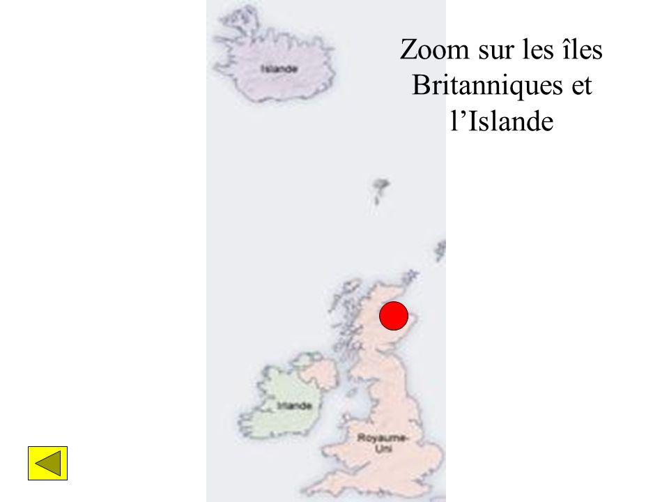 Zoom sur les îles Britanniques et lIslande