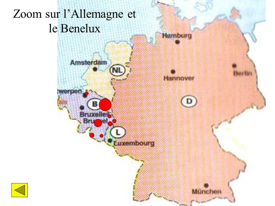 Zoom sur lAllemagne et le Benelux